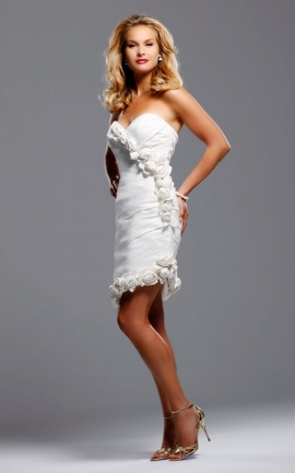 David Tutera Eva with skirt removed