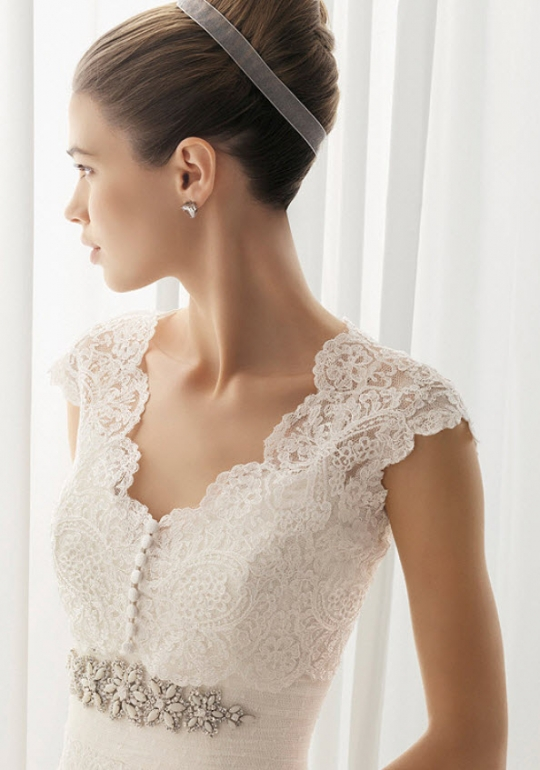 Could i wear a lace bolero with this dress help for Wedding dress with bolero