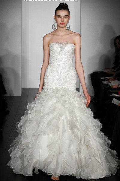 Kenneth Pool 39s wedding dress style Celebrity is an ivory