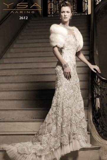 YSA Makino 39s wedding dress style 2612 is an ivory sweetheart neckline