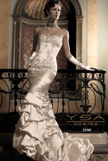 YSA Makino 39s wedding dress style 2590 is an ivory sweetheart neckline