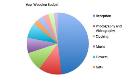 wedding budget percentage chart