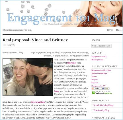 Real Proposal story featured in Engagement 101 Magazine