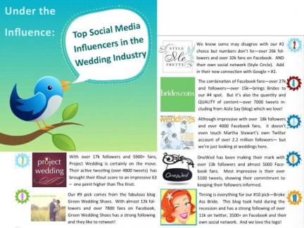 Follow @OneWed on Twitter- top 10 social media influencers of 2011!