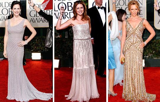 Photo: Shimmer, Shimmer--Jennifer Gardner (Versace), Jenna Fischer (Halston)