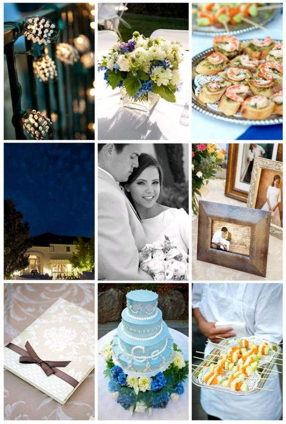 Blue Green Wedding Inspiration