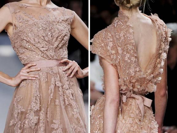 Texture-rich Spring 2011 couture gown by Elie Saab