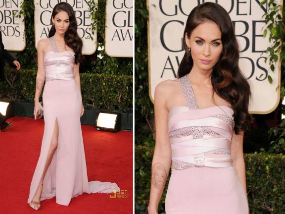 megan fox golden globes 2011 dress
