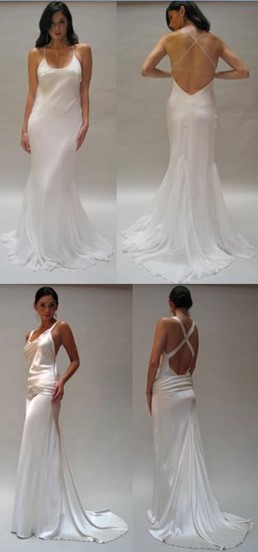 Simple Silk Wedding Dresses