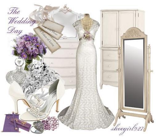 Lavender wedding veil