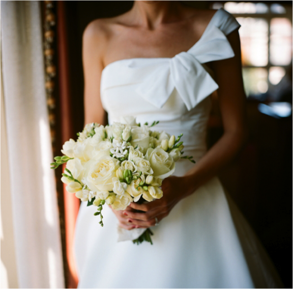 White Wedding Bouquet  Photo by: ABryan Photo