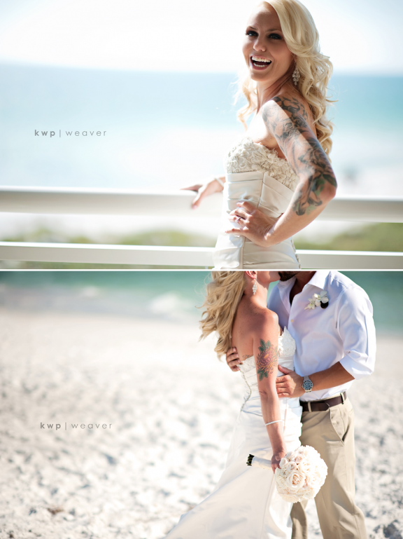 Glamourous Beach Wedding