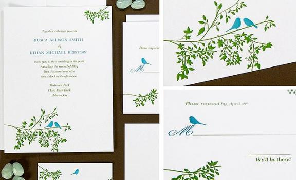 Invitations programs guest books thank you cards flatware and party