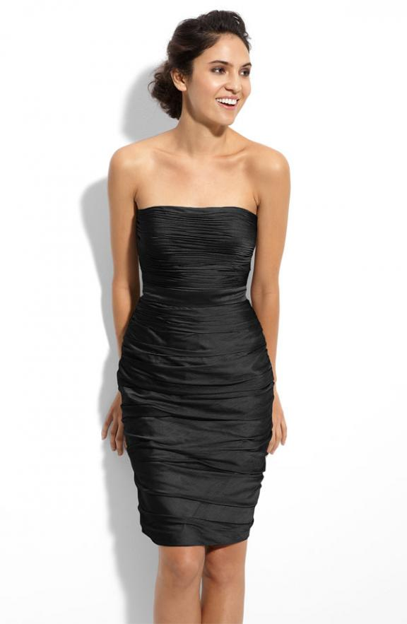 Cute Cheap Black Dresses - strapless black dress