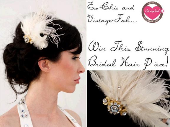 Savvy Steals Giveaway: Win This Drool-Worthy Vintage Bridal Hair Accessory! :  swarovski save win green wedding ideas vintage hair pieces