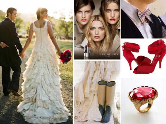 Burberry-inspired wedding style