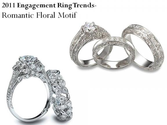 celebrity inspired engagement ring trends for 2011 floral motif platinum