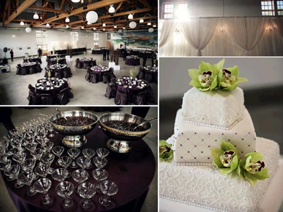 Green And White Wedding Decorations. Real Wedding Inspiration: