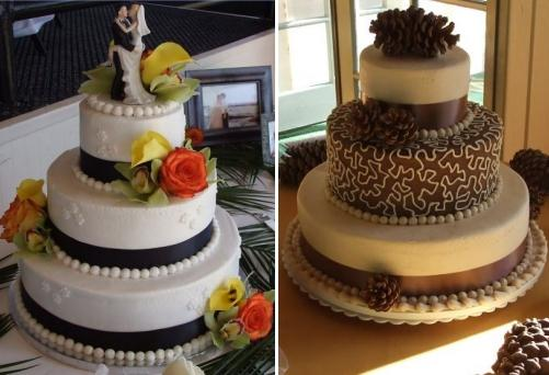 Classic three tier round wedding cakes made from organic and vegan