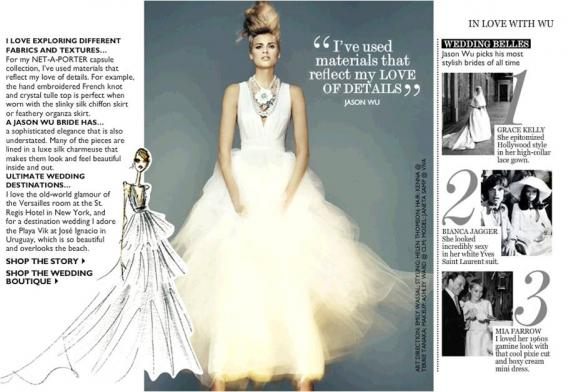 Wedding Dresses by Jason Wu Michelle Obama s Fave Designer Goes Bridal from onewed.com
