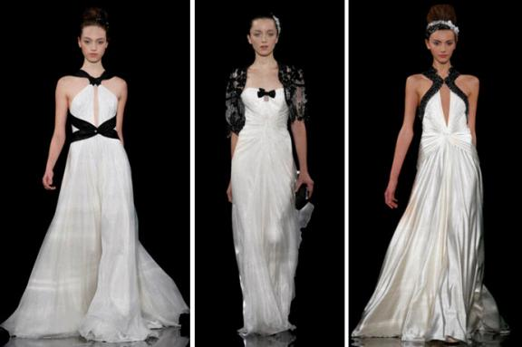 black and cream wedding dresses