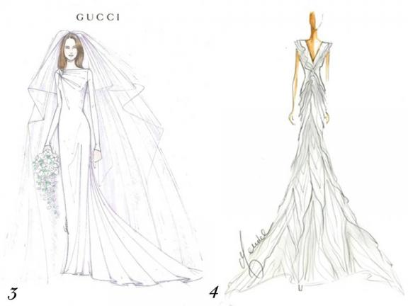 wedding dress designs sketches. wedding dress, via WWD.com