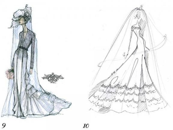 wedding dress designs sketches. Middleton#39;s wedding dress,