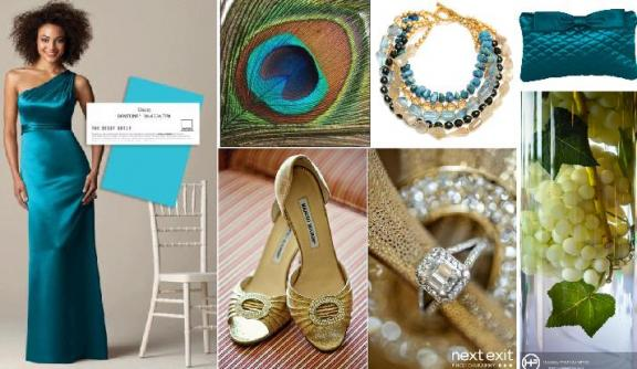 Create Your Dessy/Pantone Style Board: Win $500 Of Dessy Accessories! | OneWed.com :  wedding colors bridesmaid dresses accessories dresses