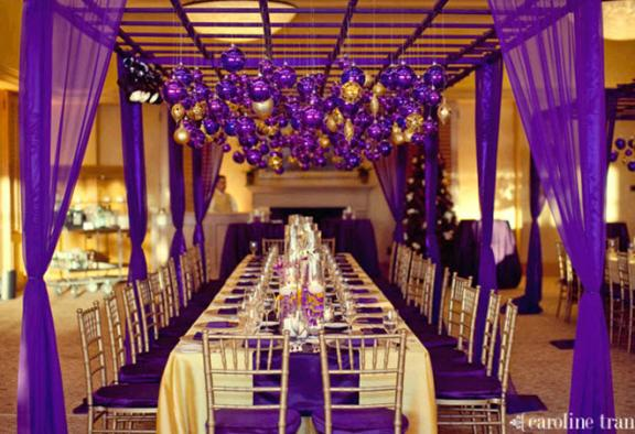 Amber and Purple theme wedding Regal Rich Purple And Gold Wedding Color