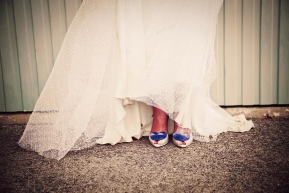 Funky Vivienne Westwood wedding shoes