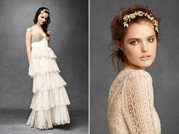 BHLDN Gowns, Veils, Baubles Have Arrived: Totally Swoon-Worthy! - Wedding Blog - OneWed's Savvy Scoop for Wedding Ideas, Wedding Photos, Wedding Pictures :  2011 wedding dresses wedding dresses bridal accessories new wedding dress designers