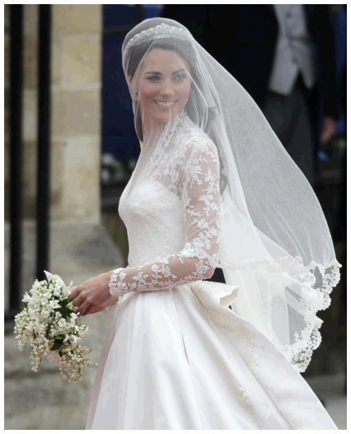 Prince William and Kate Middleton's Bridal Tiaras and Headpieces