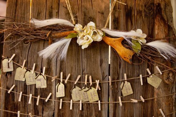 Western themed wedding in rustic barn in Jackson Hole Wyoming