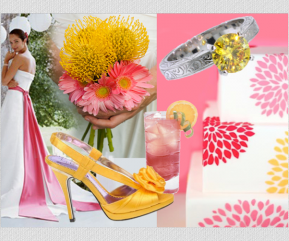Summer Wedding Decoration Ideas: Summer Color Palette: Pink And Yellow