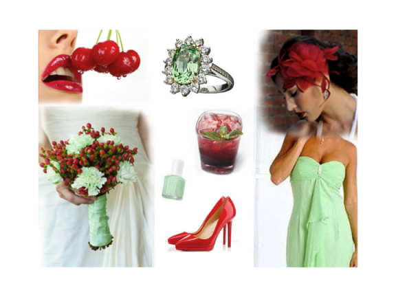 Mint and Cherry Color Inspiration