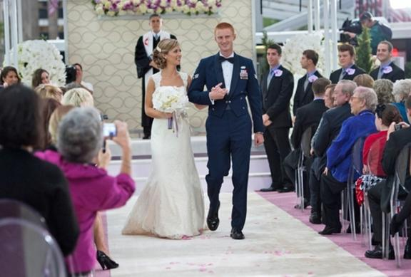 Today Show wedding couple walk down aisle after saying I Do