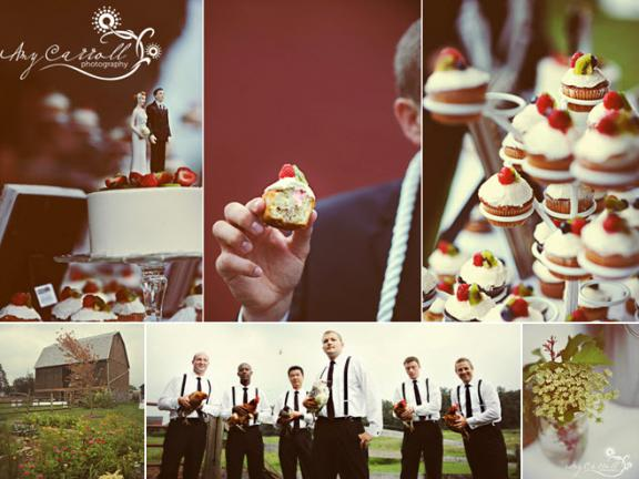 wedding reception fun red black white cupcakes wedding cake bride groom cake
