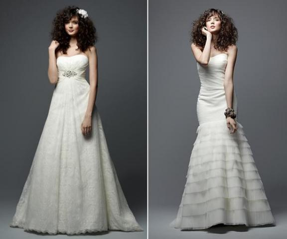 Beautiful a-line lace wedding dress with crystal beaded sash
