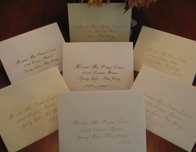 Invitations & Stationery in Wall Township, NJ: A Touch of Ink Calligraphy