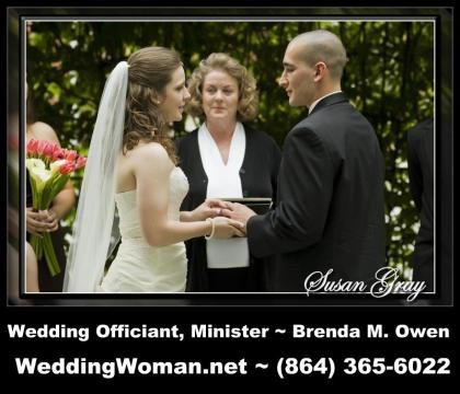 Officiants & Clergy in Greenville, SC: Brenda M. Owen  Wedding Ceremony Officiant, Minister - WeddingWoman.net