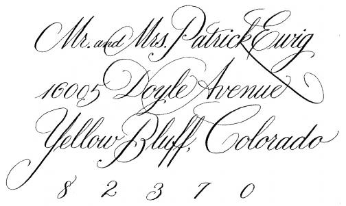 Portfolio image for Calligraphy for Life's Celebrations!