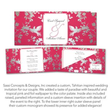 Portfolio image for Sassi Concepts & Designs, Inc.'s ' Yours By Design' custom invitations & stationery