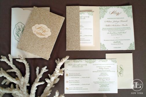 Lela New York couture wedding invitations and stationery on OneWed