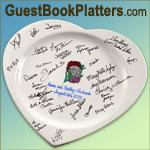 Favors & Gifts in Syracuse, NY: Guest Book Platters