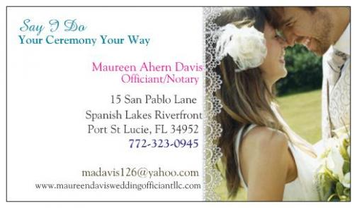 Portfolio image for Maureen Davis Wedding Officiant