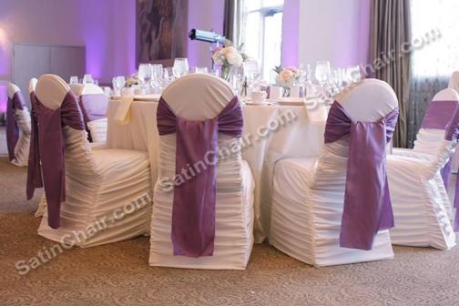 Awe Inspiring Satin Chair Covers Rental Chicago And Suburbs On Onewed Gmtry Best Dining Table And Chair Ideas Images Gmtryco