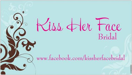 Portfolio image for kiss her face bridal