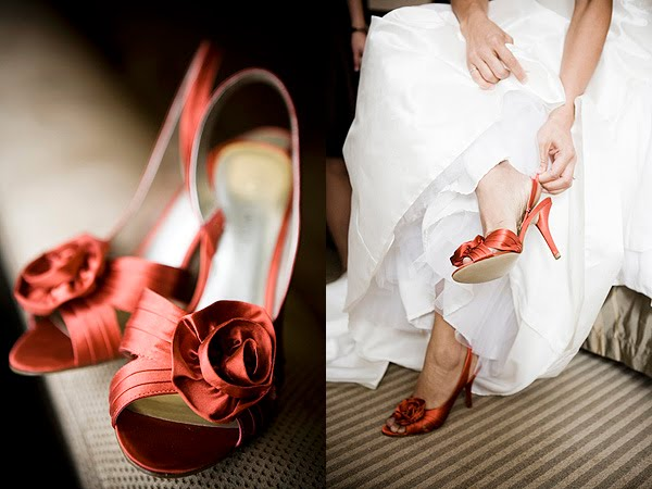 wedding dresses with colored shoes. Colored Or White Shoes,
