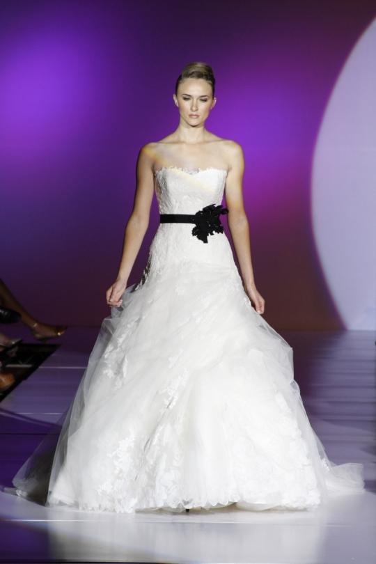 white wedding dresses with blue. Blue by Enzoani Wedding Dress