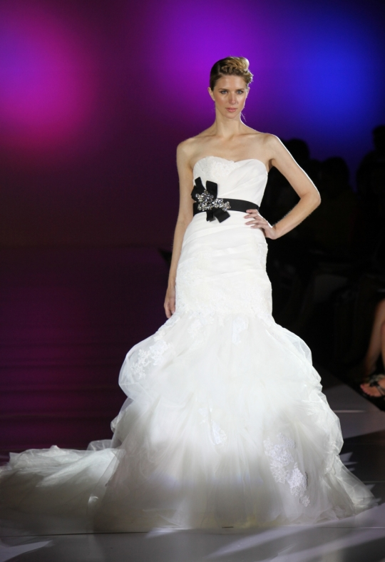 wedding gown with black